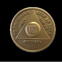 Юбилейный подарочный жетон 24 года трезвости бронза