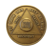 Юбилейный подарочный жетон 27 лет трезвости бронза
