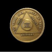 Юбилейный подарочный жетон 29 лет трезвости бронза