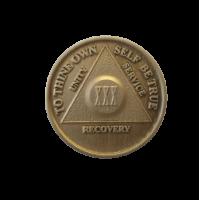 Юбилейный подарочный жетон 30 лет трезвости бронза
