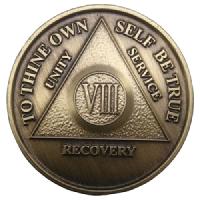 Юбилейный подарочный жетон 8 лет трезвости бронза